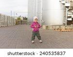 girl holding hands on chest in... | Shutterstock . vector #240535837