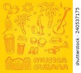 cuban salsa music illustration... | Shutterstock .eps vector #240537175