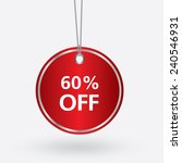 red oval discount 60 percent...   Shutterstock .eps vector #240546931