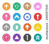 arrow sign icons set great for... | Shutterstock .eps vector #240557545
