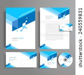 corporate identity template...   Shutterstock .eps vector #240559831