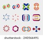 business logo element set  | Shutterstock .eps vector #240566491