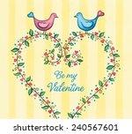 valentine's day card. love... | Shutterstock . vector #240567601