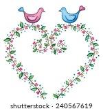 love background. cute birds... | Shutterstock . vector #240567619