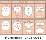 doodles labels  badges frame... | Shutterstock .eps vector #240573061