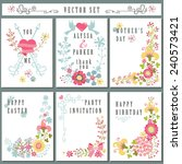 cute vintage  floral elements.... | Shutterstock .eps vector #240573421