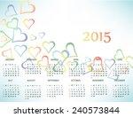 calendar for 2015 year | Shutterstock .eps vector #240573844
