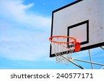 Basketball Hoop Under A Blue Sky