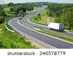 the highway between woods  in... | Shutterstock . vector #240578779