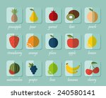 fruit flat icon. the image of... | Shutterstock .eps vector #240580141