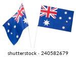 australian national flag on... | Shutterstock . vector #240582679