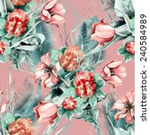 spring seamless pattern | Shutterstock . vector #240584989