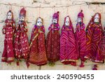 Colorful Handmade Puppets On...