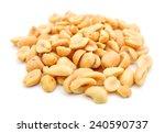 Peeled Salted Peanuts Isolated...