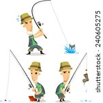 Fisherman With Fishing...