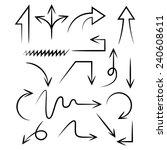 arrows  hand draw arrows ... | Shutterstock .eps vector #240608611