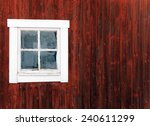 Red Traditional Barn Wall And...