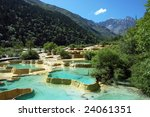 Colorful Limestone Pools In...
