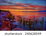 colorful sunset with intriguing ... | Shutterstock . vector #240628549