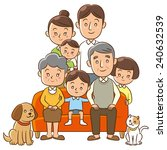 family  home  three generation  ... | Shutterstock . vector #240632539