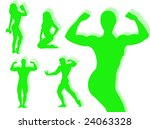 body builder silhouette in... | Shutterstock . vector #24063328