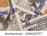 close up of one hundred bill... | Shutterstock . vector #240633727