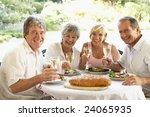 friends eating an al fresco... | Shutterstock . vector #24065935