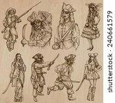 warriors  set no.8   ... | Shutterstock .eps vector #240661579