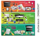 creative team flyer template  ... | Shutterstock .eps vector #240665347