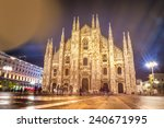milan cathedral dome   italy ...   Shutterstock . vector #240671995