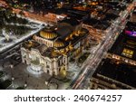 palace of fine arts  mexico city | Shutterstock . vector #240674257