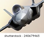 f35 fighter jet close up. | Shutterstock . vector #240679465