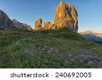 cinque torri mountains at... | Shutterstock . vector #240692005