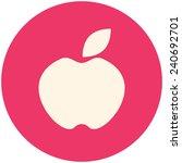 apple  modern flat icon | Shutterstock .eps vector #240692701