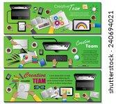 creative team flyer template  ... | Shutterstock .eps vector #240694021