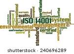 iso 14001 word cloud concept.... | Shutterstock .eps vector #240696289