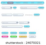 website design set. consist of  ... | Shutterstock .eps vector #24070321
