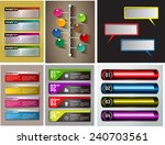 colorful modern text box... | Shutterstock .eps vector #240703561