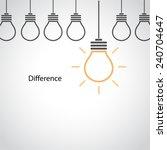 creative light bulb idea... | Shutterstock .eps vector #240704647
