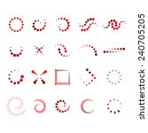 design elements set   isolated... | Shutterstock .eps vector #240705205