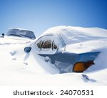 cars covered with snow in the... | Shutterstock . vector #24070531
