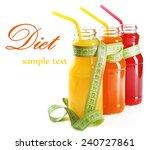 bottles of diet drinks with... | Shutterstock . vector #240727861