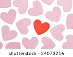 valentine's day foam hearts... | Shutterstock . vector #24073216