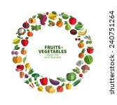 food. fruit and vegetables icon ... | Shutterstock .eps vector #240751264