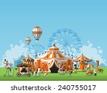 abstract classical circus tent | Shutterstock .eps vector #240755017