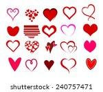 heart shape set vector | Shutterstock .eps vector #240757471