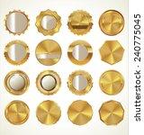 golden labels collection | Shutterstock .eps vector #240775045