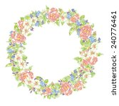 wreath of flowers  | Shutterstock .eps vector #240776461
