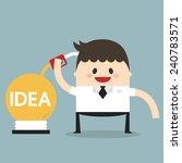 vector cartoon of idea...   Shutterstock .eps vector #240783571