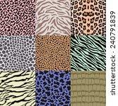 Repeated Wildlife Animal Skin...
